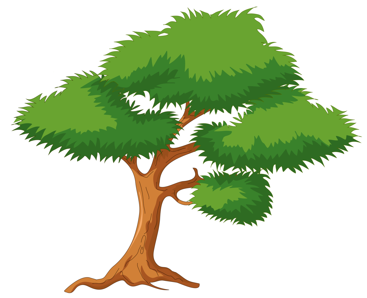 Tree clip art png. Green cartoon