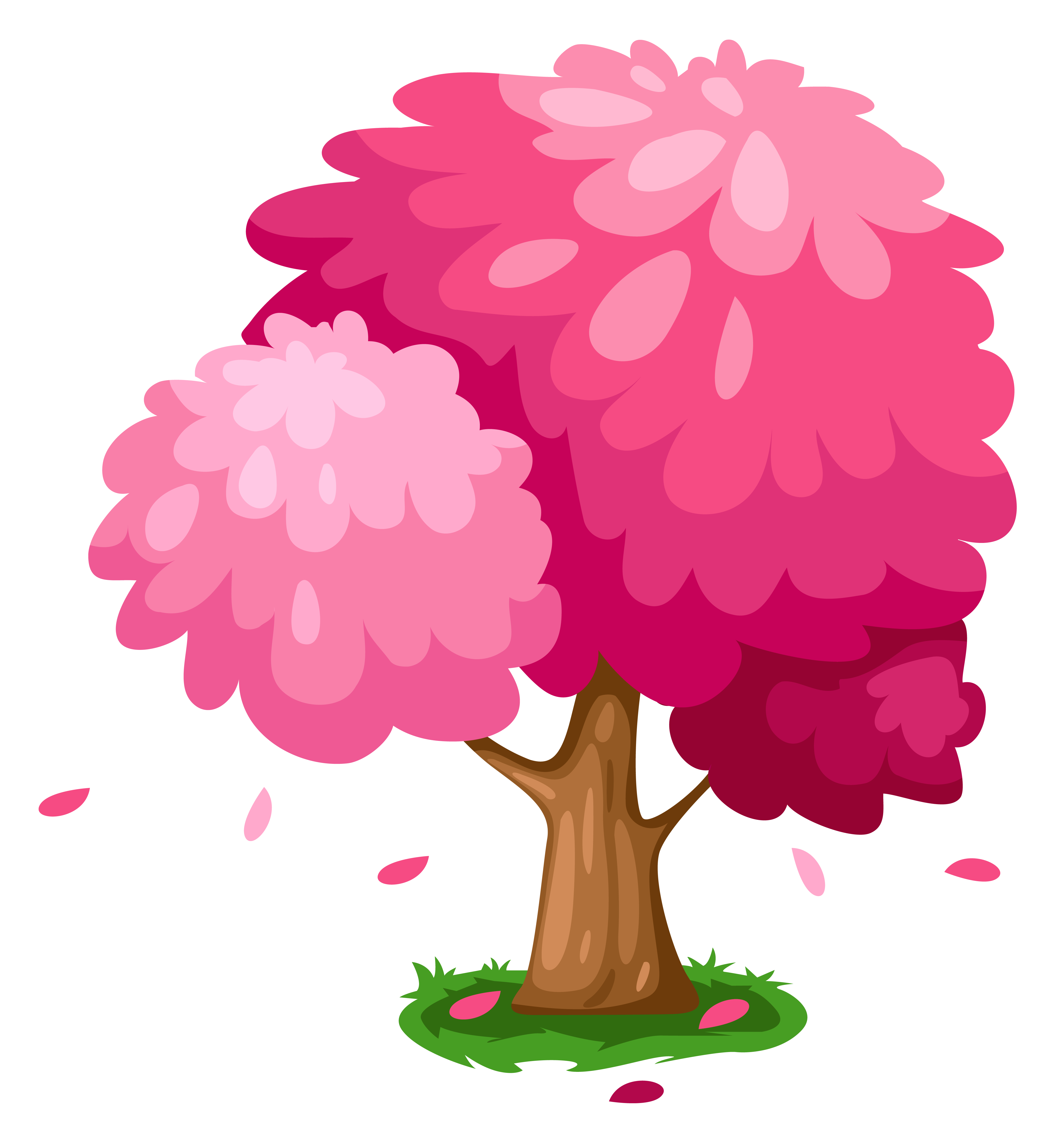 Tree clipart summer. Cute pink spring gallery