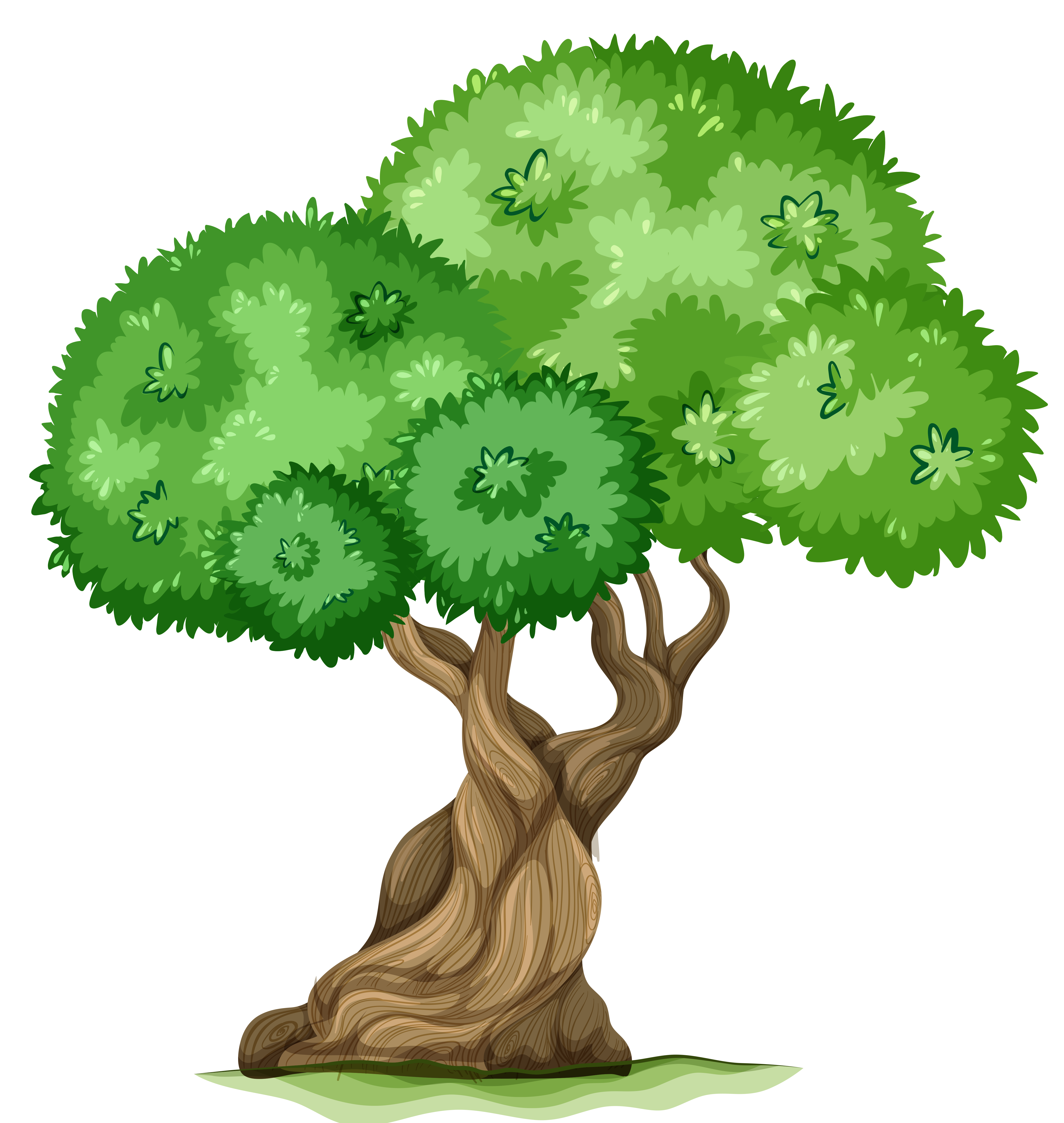 Tree clipart cute. Trees new with circles