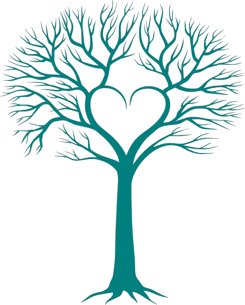 Tree clipart heart. Family with clip art