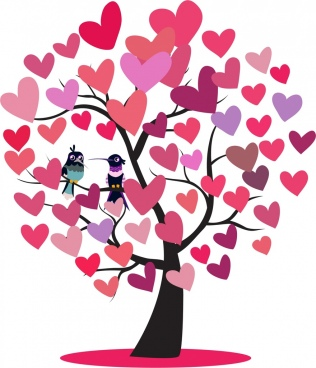 Tree clipart heart. Free vector download for
