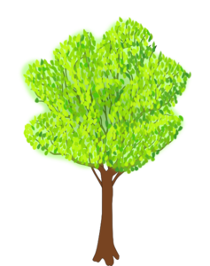 Tree clipart summer. Background