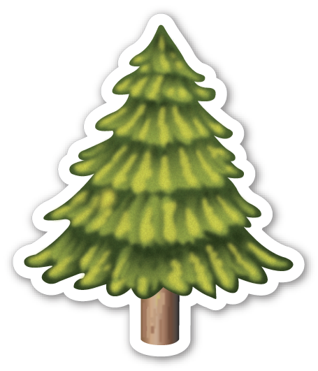 Tree emoji png. Evergreen emojistickers com
