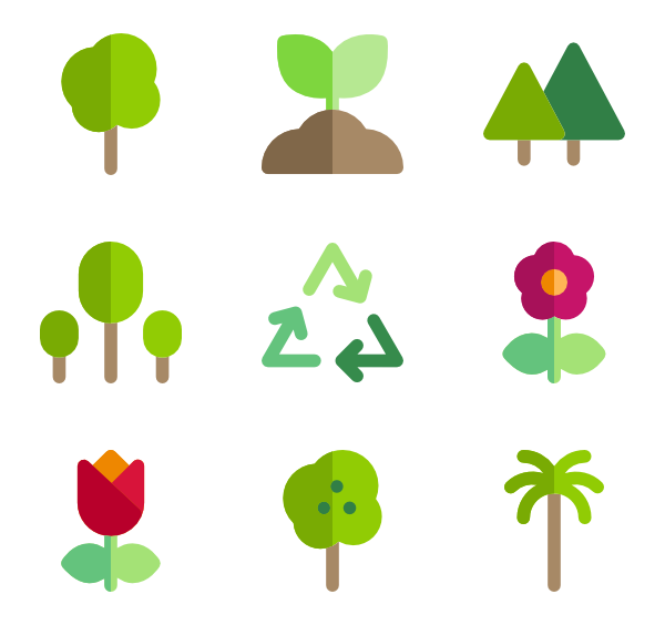 Vector psd tree. Icon packs svg