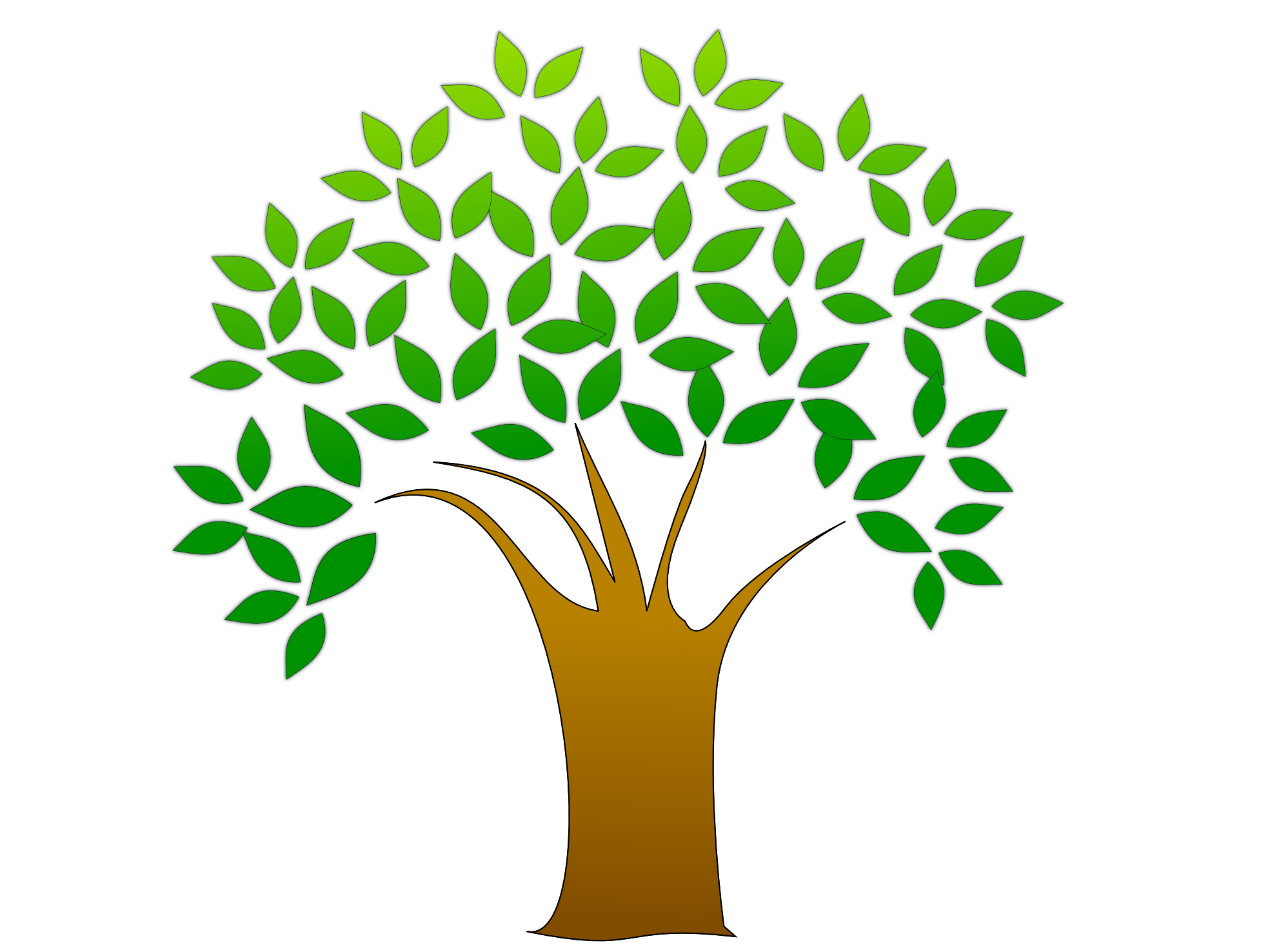 Tree with roots vector png. Images for logo clipartsco