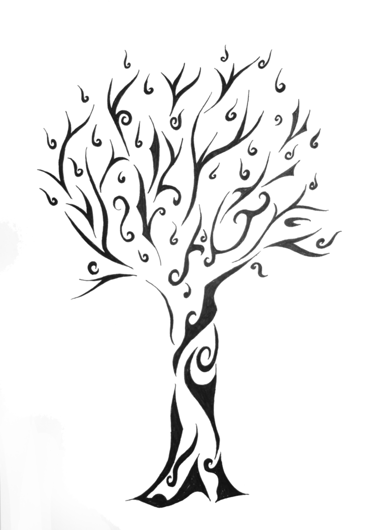 Tree of life silhouette png. Tattoo designs tribal for