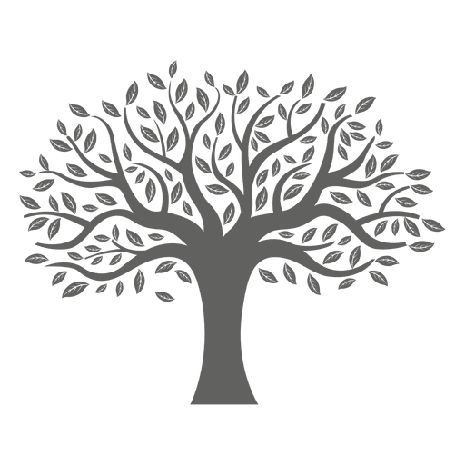 And svg tree. Flat silhouette transparent png