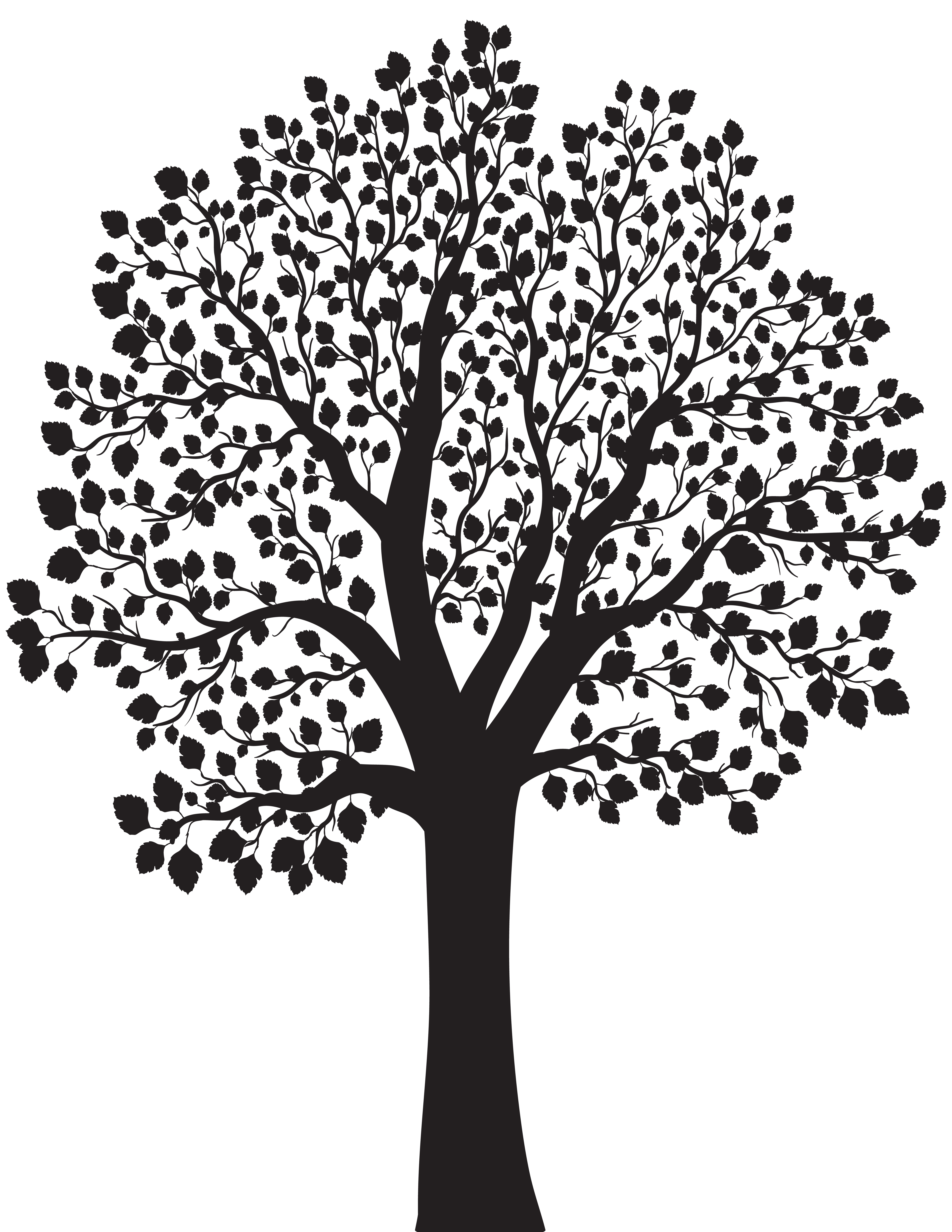 Tree silhouette png. Clip art image gallery