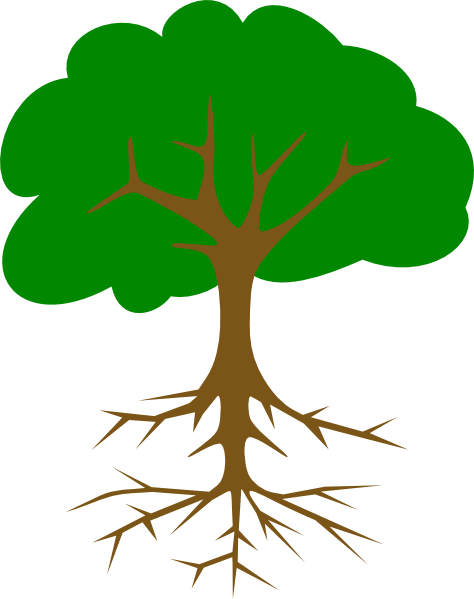 Tree with roots png. Clip art at clker
