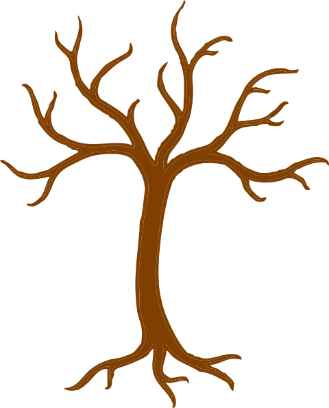 Tree with roots vector png. Bare clip art at