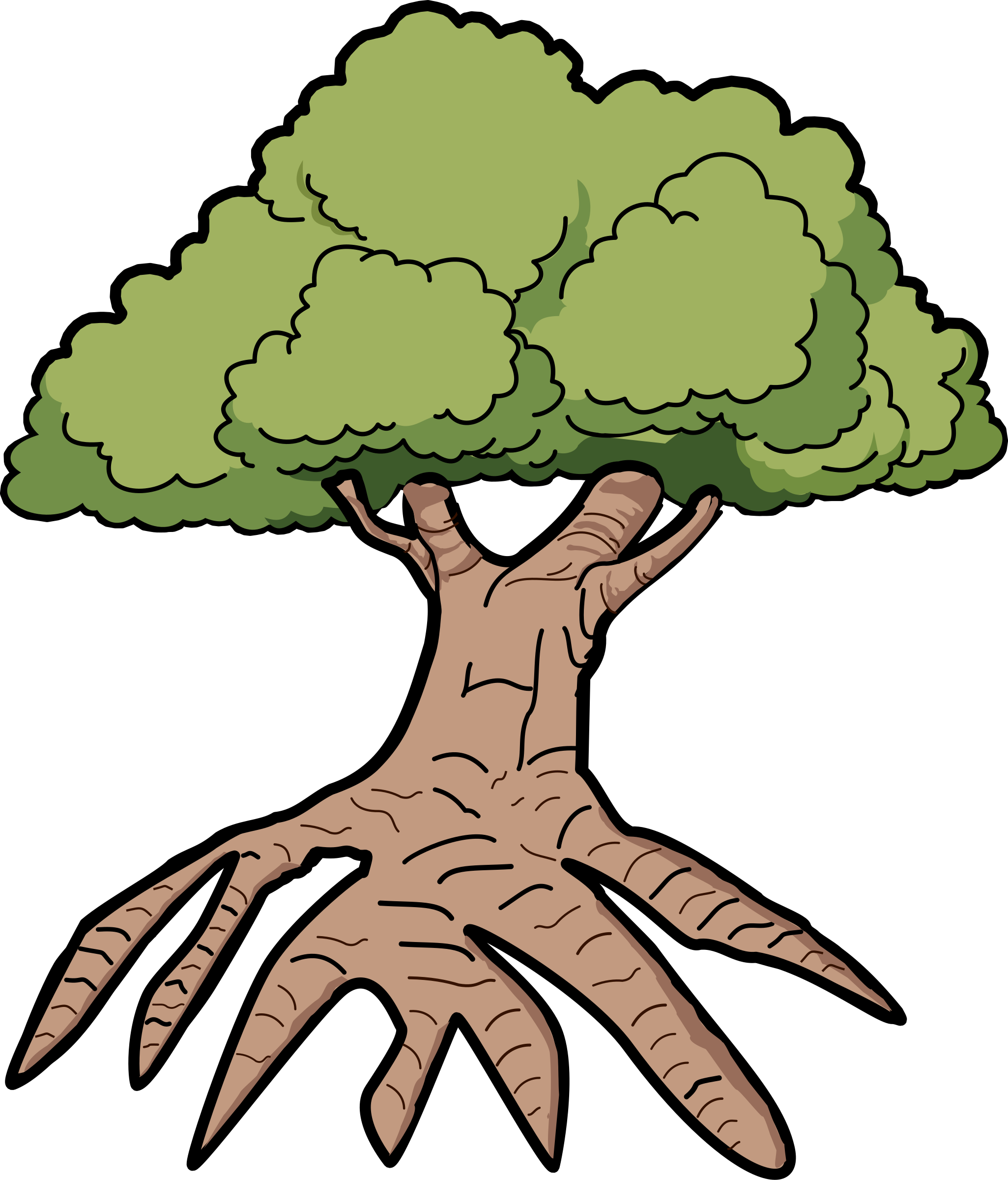 Tree with roots vector png. Silhouette at getdrawings com