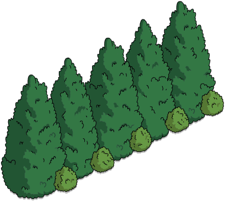 Treeline png. Mansion gardens wikisimpsons the