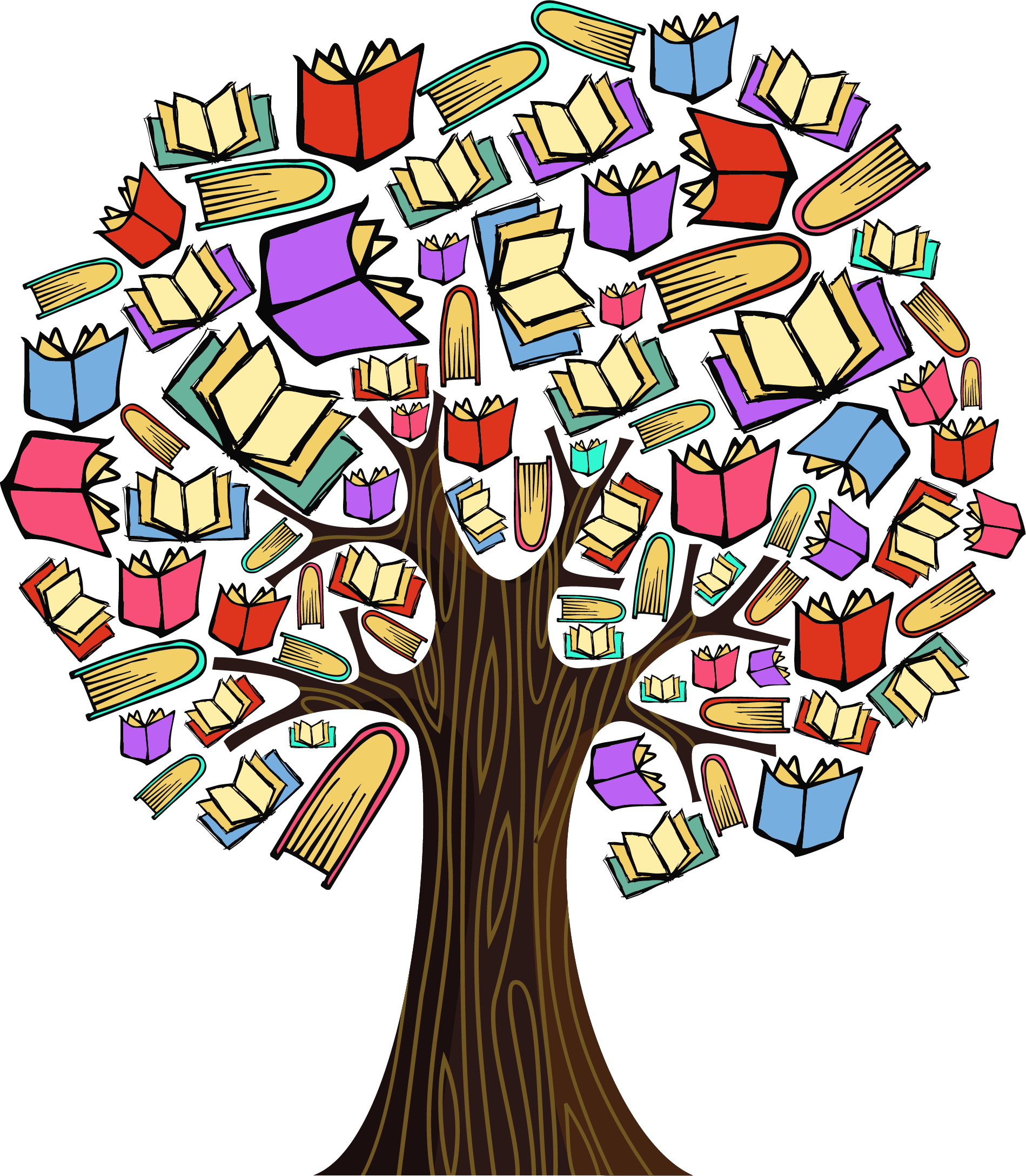 Trees clipart book. Tree jpg library rr