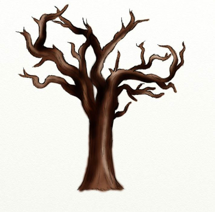 Trees clipart dead. Tree at getdrawings com