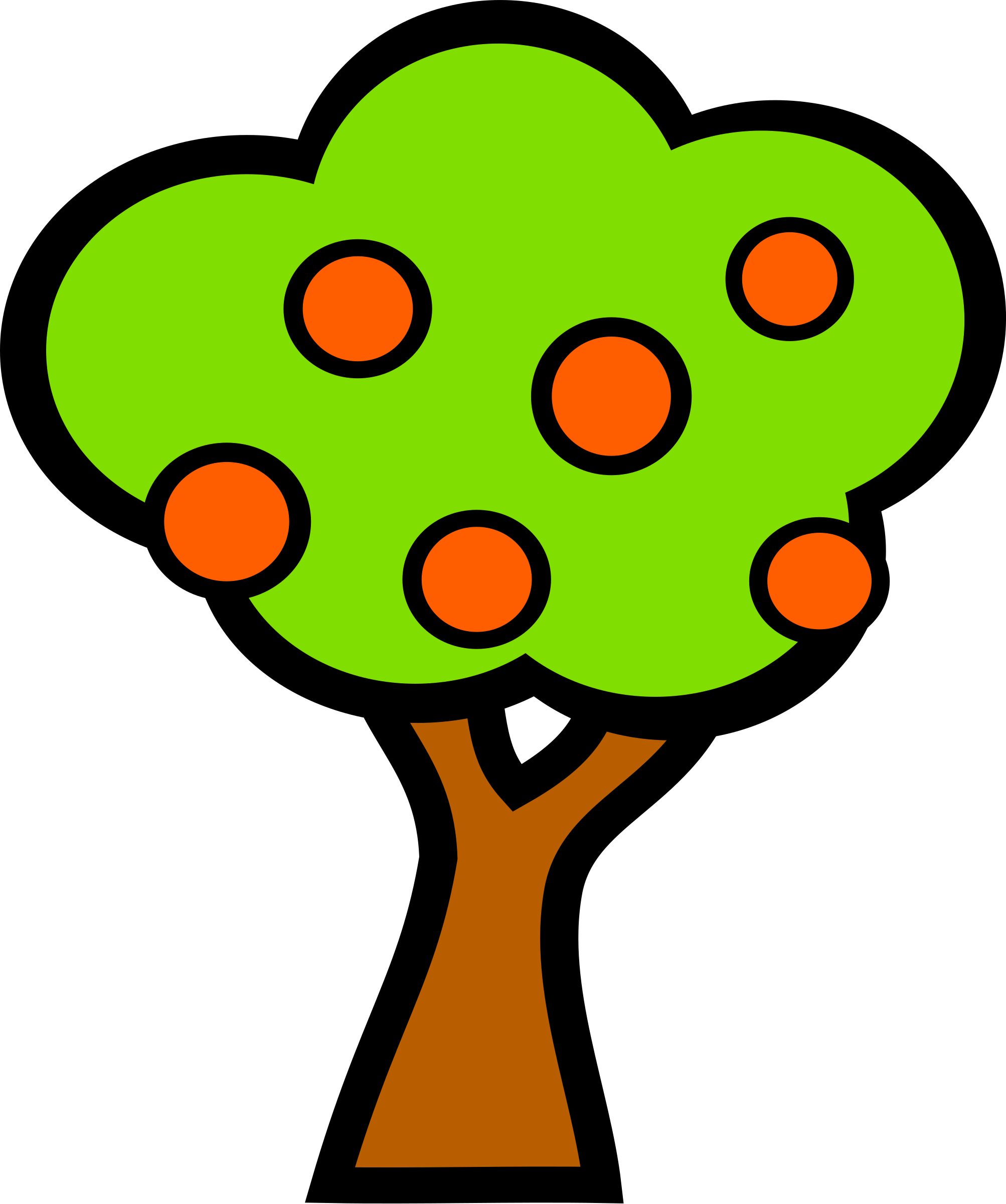 Trees clipart fruit. Tree with fruits big
