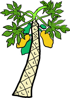 Trees clipart fruit. Free with fruits panda