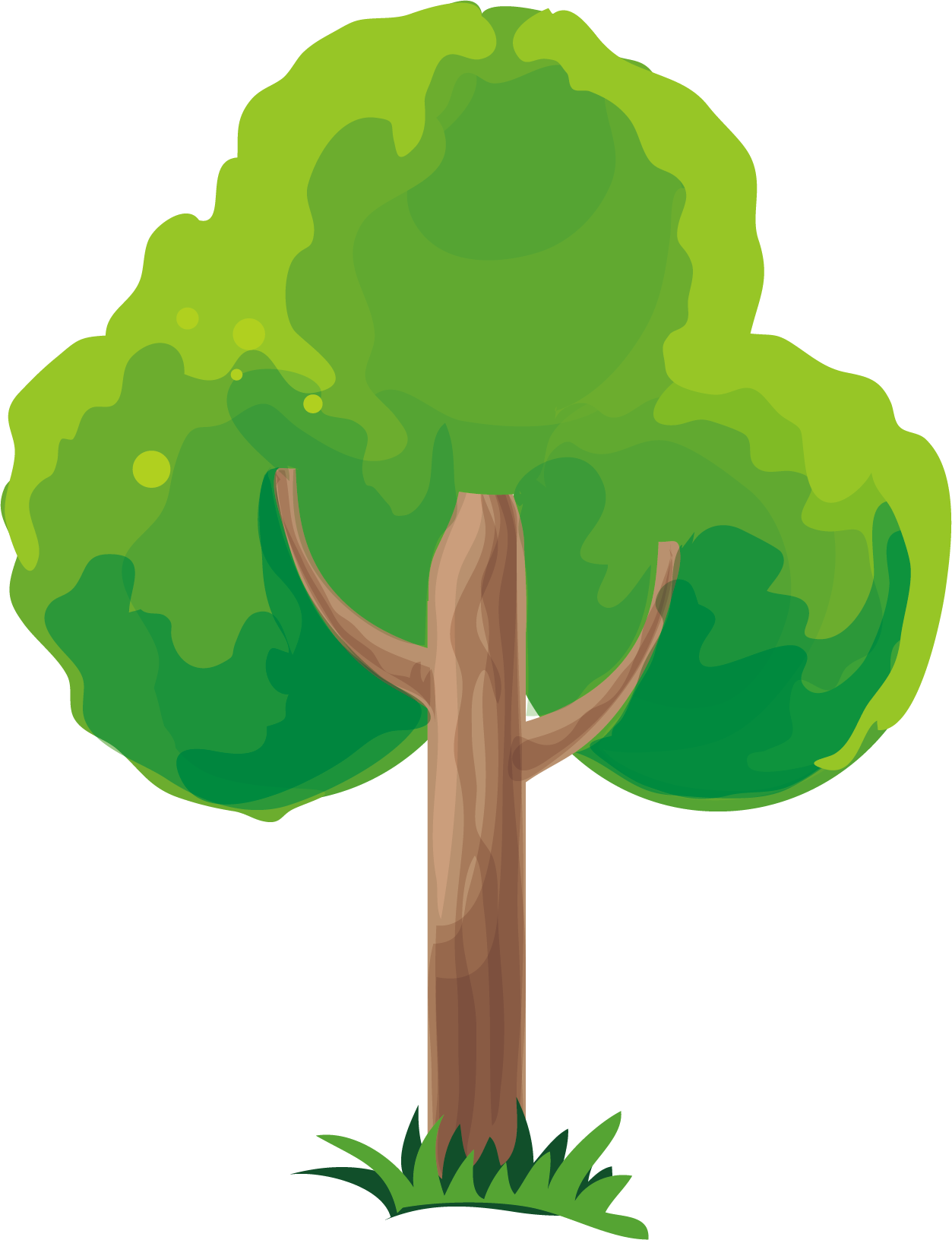 Trees vector png. Material transprent free download