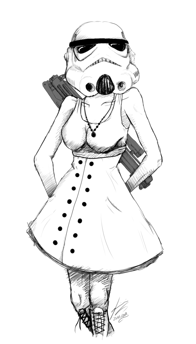 Vanity drawing woman. Collection of free stormtrooper