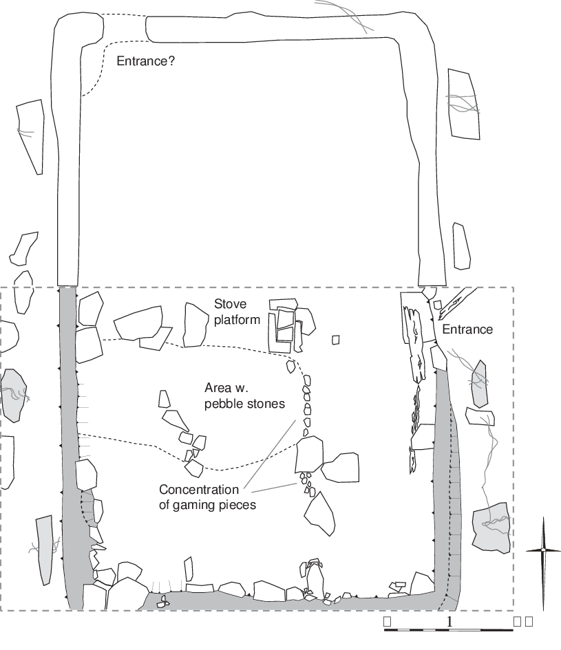Plan of structure with. Trenches drawing banner library