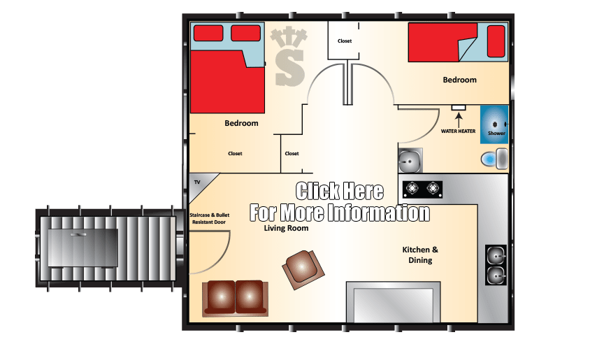Trenches drawing bomb shelter. Pricing and floor plans