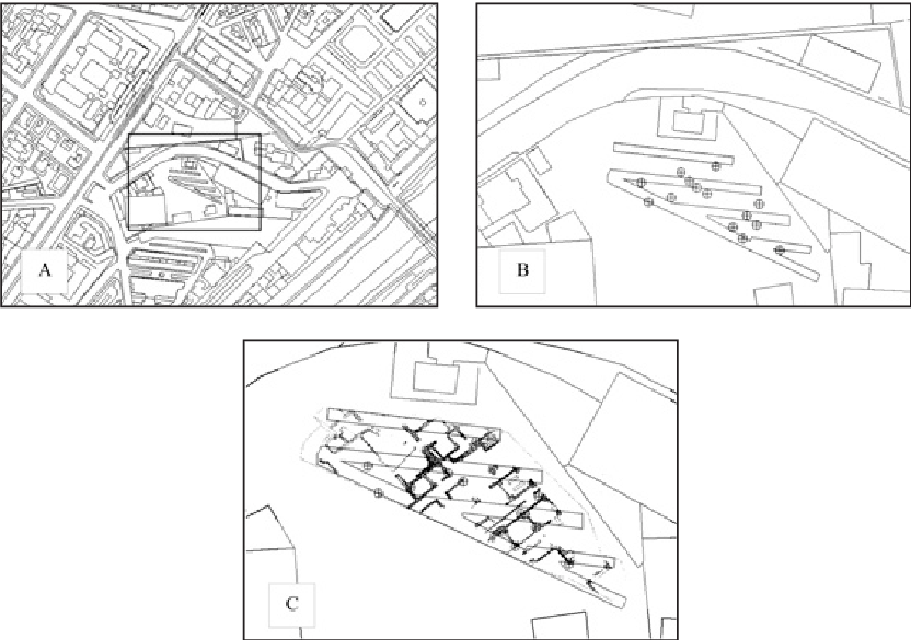 Trenches drawing map. A portion of the