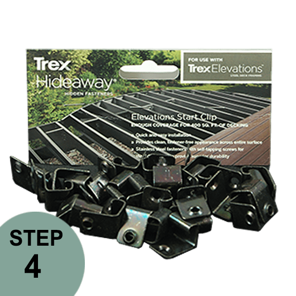 Trex clip starter. Elevations hideaway start the