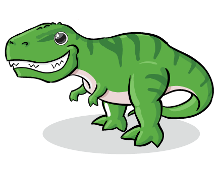 Trex clipart cute. T rex cartoon