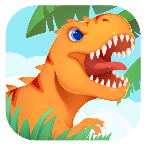 trex clipart orange