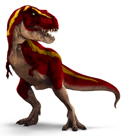 Trex png red. I m over with