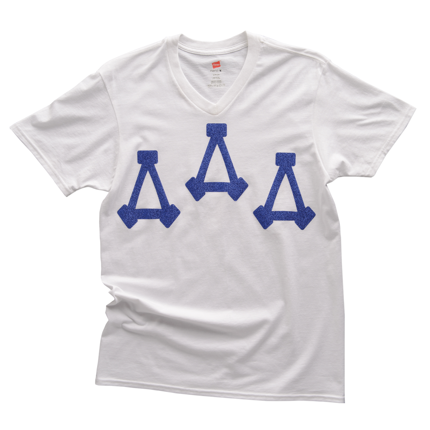 Tri delta letters png. Glitter letter tee
