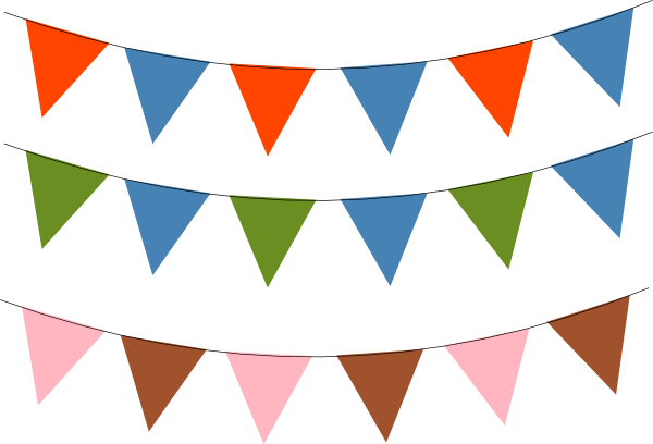 Triangle banner png. Bunting clip art at
