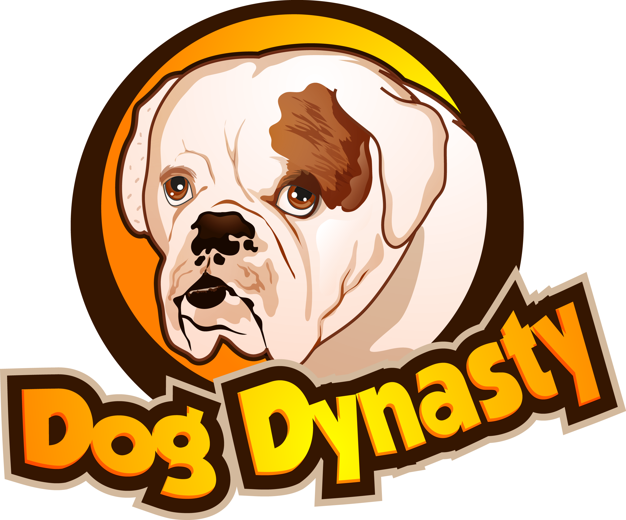 Triangle clip bulldog. Dogdynasty