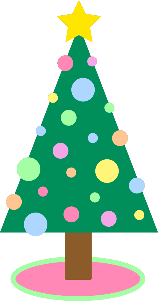 Triangle clip christmas tree clipart. Ornament library stock