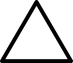 Triangle clip clipart. Black art at clker