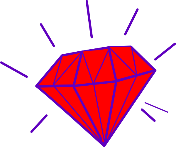Triangle clip gem. Collection of free gems