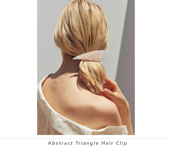 Triangle clip hair. Abstract design crush abstracttrianglehairclipdesigncrush