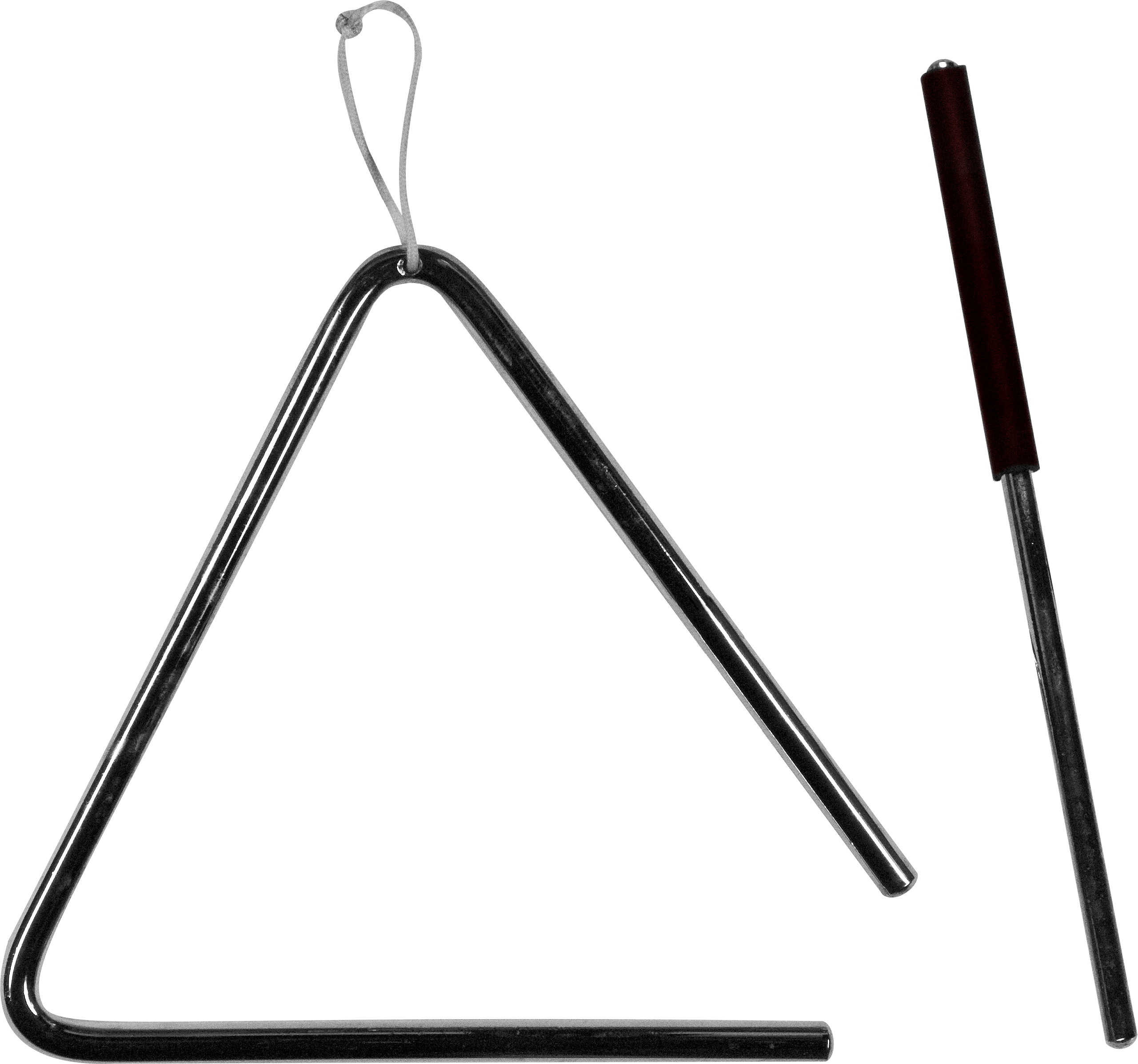 Triangle clip musical instrument. File and stick png