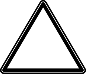 Triangle clip thing clipart black white. Art at clker com