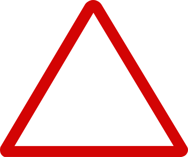 Triangle clip triangular. Thin red sign art
