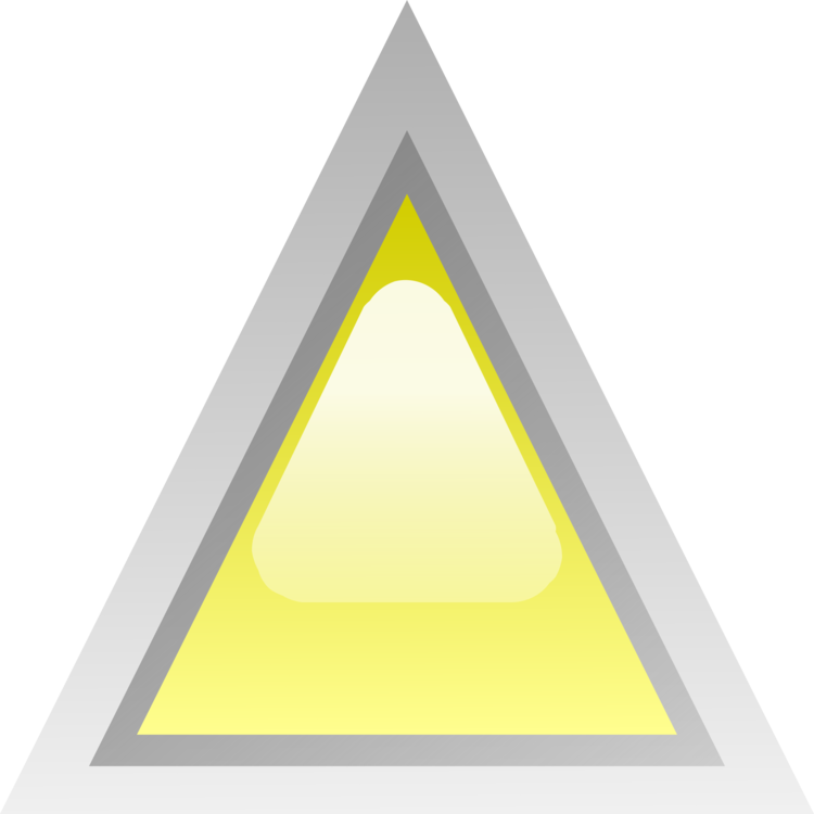 Triangle clip triangular. Yellow drawing color computer