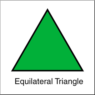 Clip art shapes equilateral. Triangle clipart image stock
