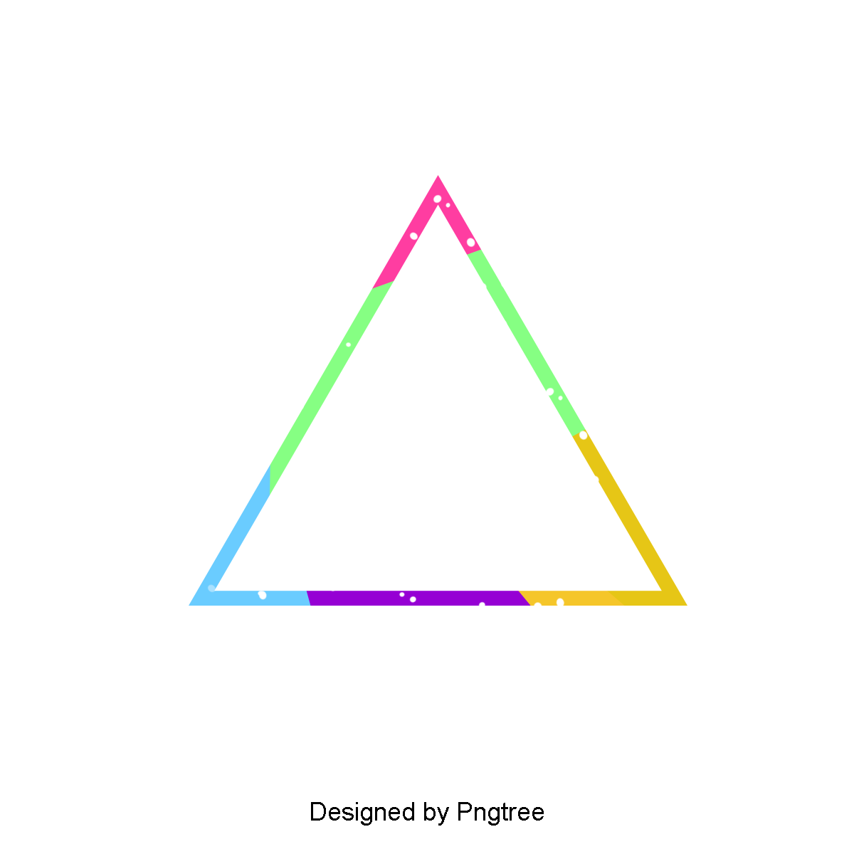 Glow vector realistic. Triangle element clipart flat