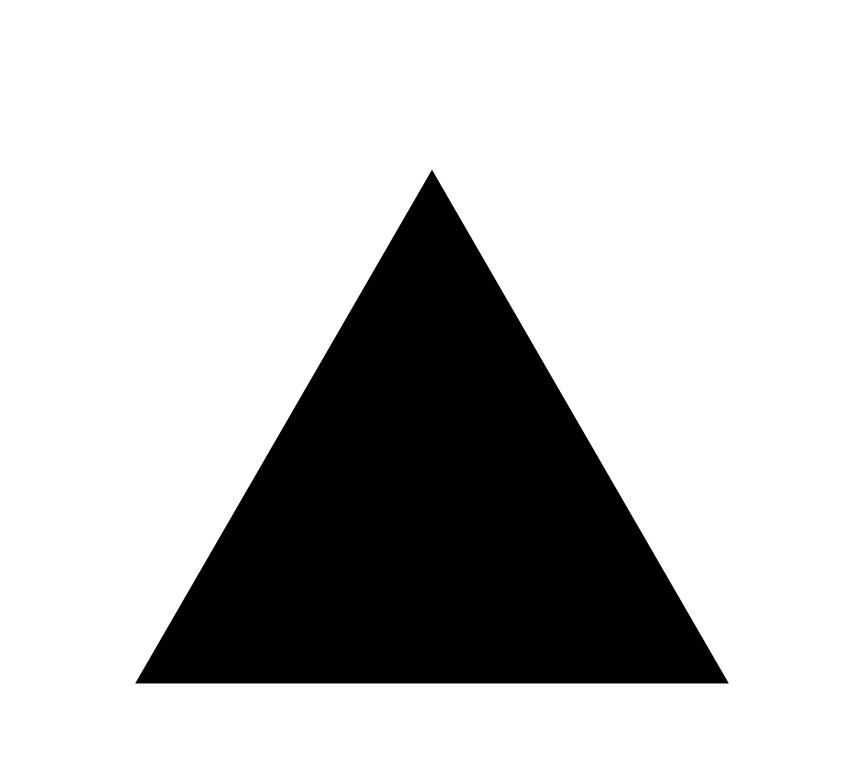 Triangle clip thing clipart black white. File with thick border