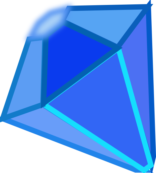 Blue clip art vector. Triangle clipart gem royalty free download