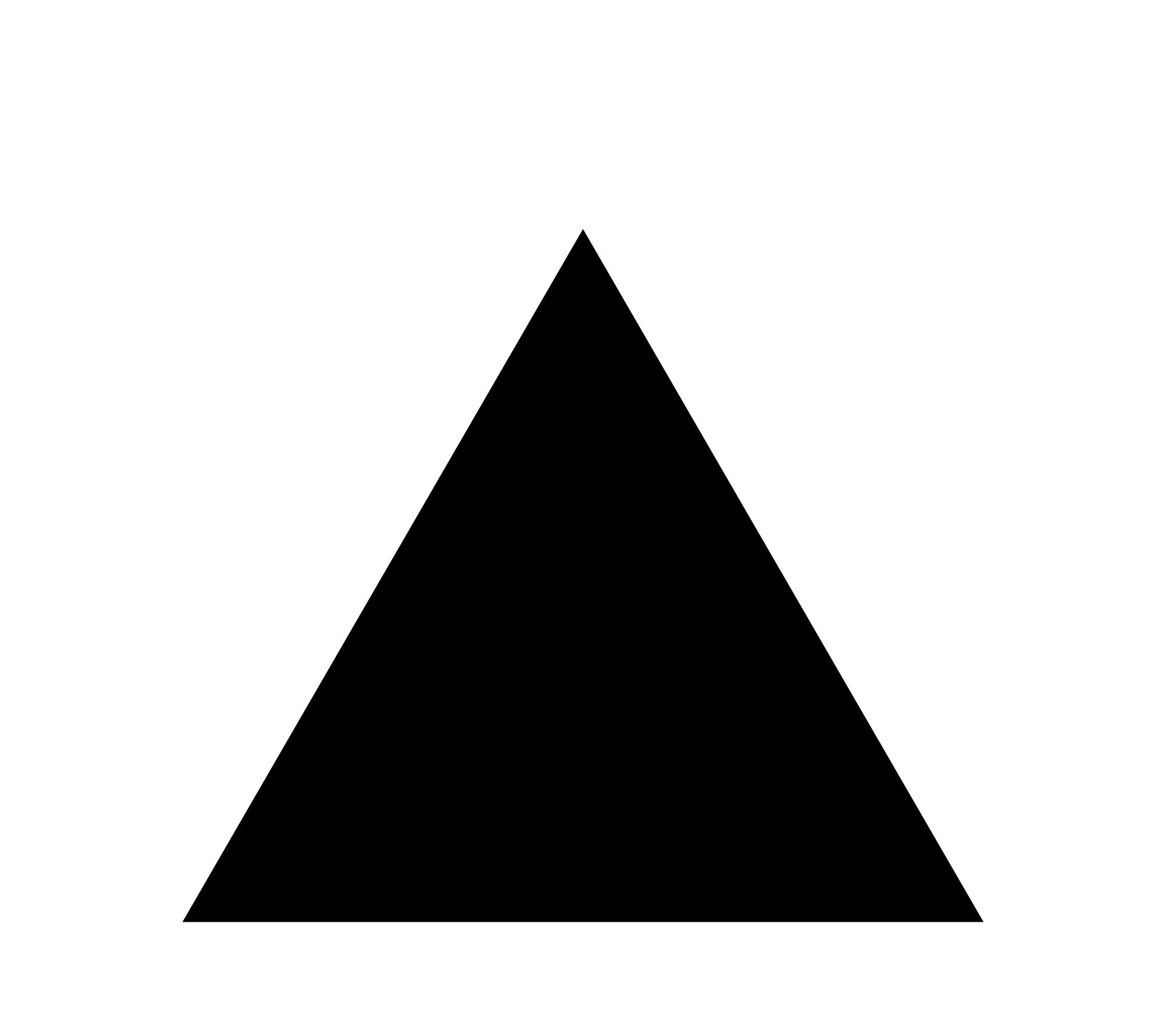 Black triangle png. File with thick white