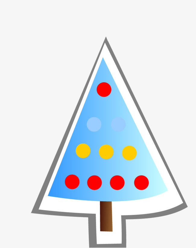 Triangle clipart tree. Christmas hand painted png