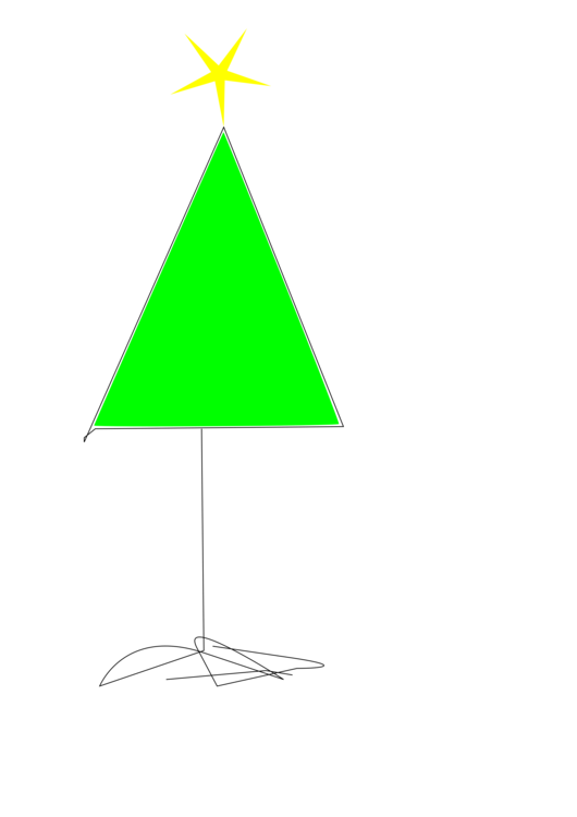 Triangle clipart tree. Green leaf free commercial