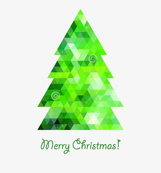Triangle clipart tree. Geometric christmas picture material
