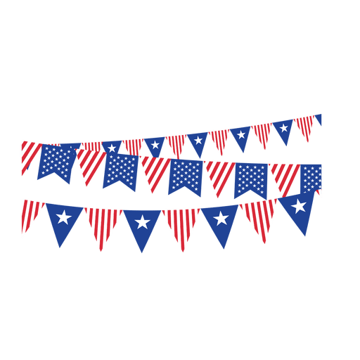 Triangle flag banner png. Ribbon usa buntings transparent