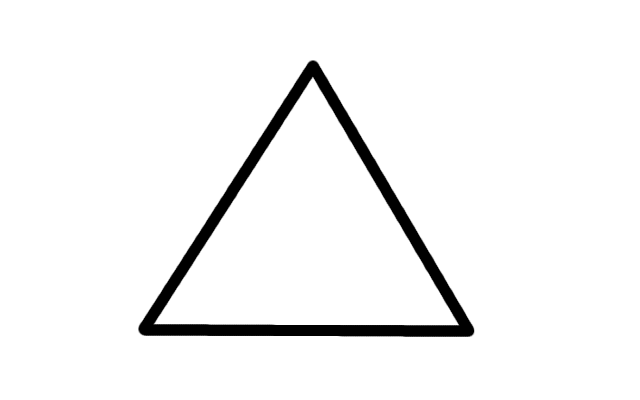 Image big shape png. Outline vector triangle free
